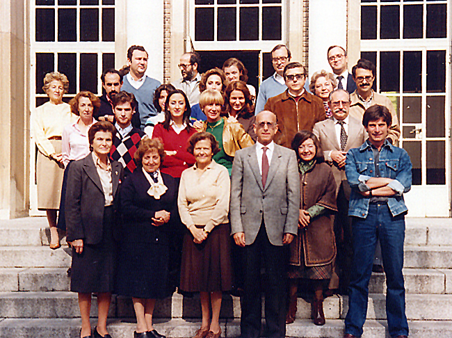 The Department's people during the 1980's. For names click on the image